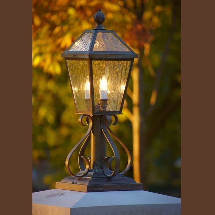 London™ Lantern 10 in. Wide Scrolled Exterior Pier Light