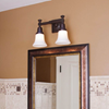 Morris™ Two Light Straight Arm Traditional Wall Sconce