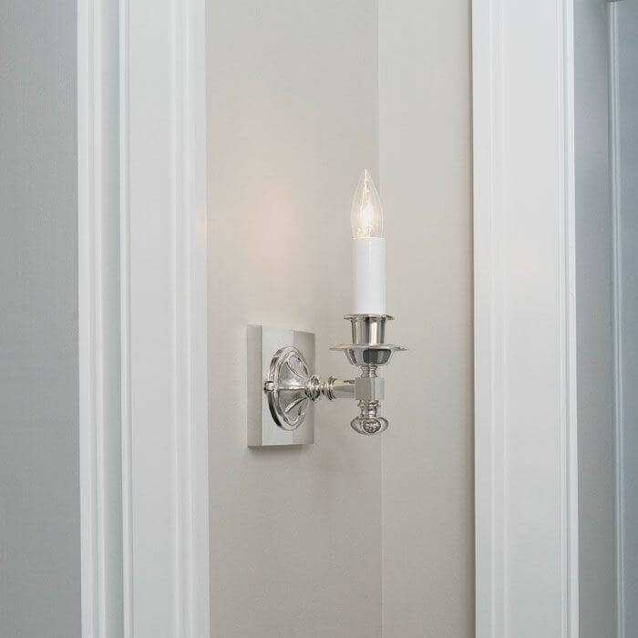 One Light Straight Arm Sconce With Electric Candle Brass Light Gallery Milwaukee Wisconsin 53233