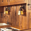Oak Park™ One Light Straight Arm Craftsman Style Hallway Wall Sconce