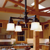 Oak Park™ craftsman style chandelier for dining rooms