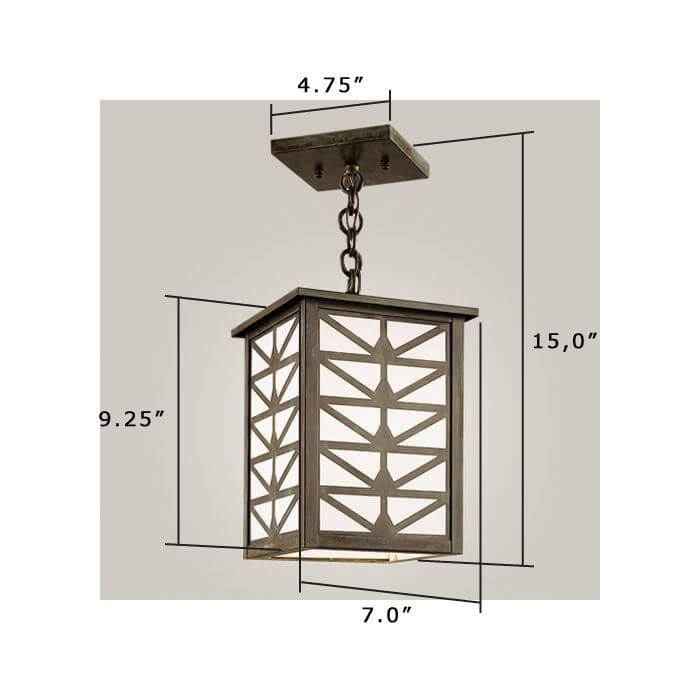 Sunrise Center Lantern™ 7 in. Wide Chain Hung Exterior Pendant Light
