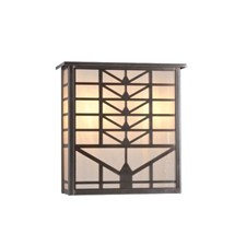 Sunrise Lantern 13 in. Wide Flush Exterior Wall Light with Roof