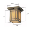 Chicago Lantern™ 7 in. Patio Ceiling Light