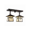 Stamford™ Two Light Rustic Ceiling Light