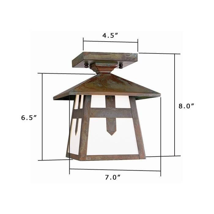 Stamford Lantern™ 7 in. Exterior Rustic Ceiling Light