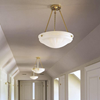 Palladian™ 16 in. polished Nickel Alabaster Pendant