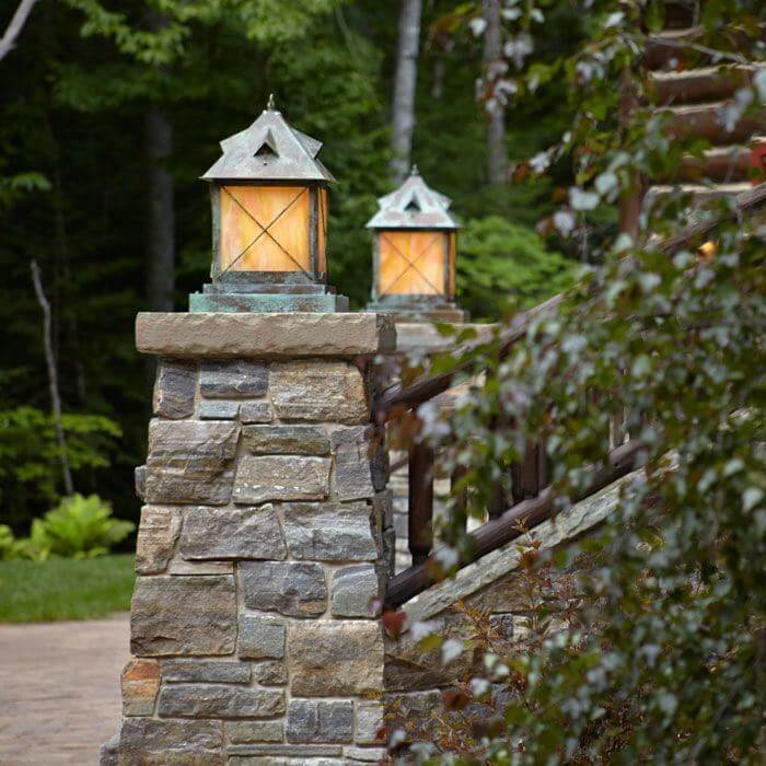 Stonehaven™ Lantern 14 in. Rustic Exterior Pier Light