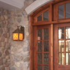 Stonehaven™ Lantern 10 in. Wide Scrolled Hook Exterior Wall Light