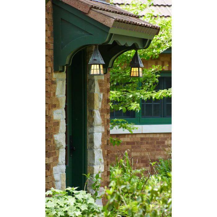 European Country™ Lantern 6 in. Wide Semi Flush Exterior Ceiling Light