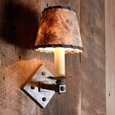 One Light Hand Hammered Rustic Sconce