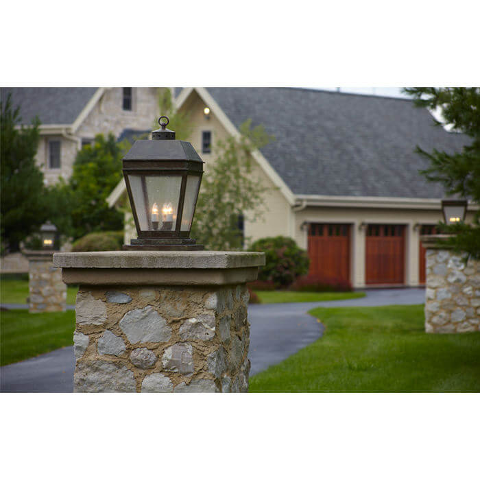 New Traditional Country Estate Exterior, Outdoor Lighting Milwaukee Wisconsin