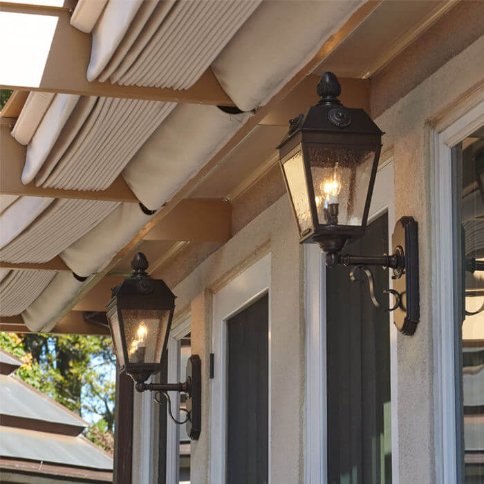 Updated Exterior Lighting For A French