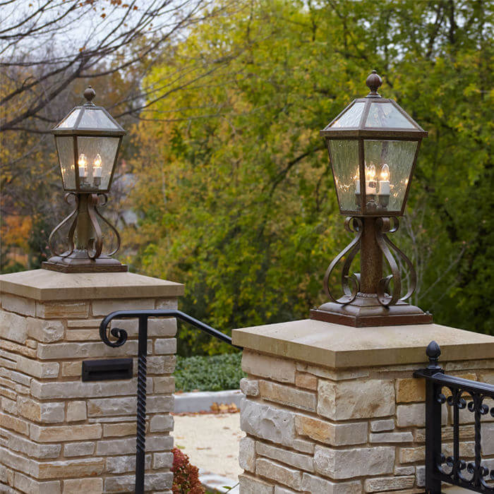 Outdoor Lighting For Brick Columns